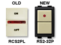 GE low voltage switches old RCS2PL new RS232P