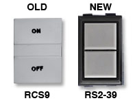 GE low voltage switches old RCS9 new RS239