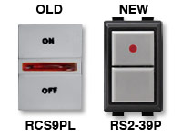 GE low voltage switches old RCS9PL new RS239P