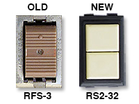 GE low voltage switches old RFS-3 new RS237