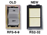 GE low voltage switches old RFS-6-9 new RS239