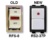 GE low voltage switches old RFS-8 new RS232P
