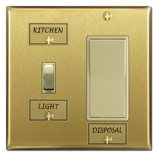 Brass Switch Identifier Name Tags For Switchplate Kyle Switch Plates