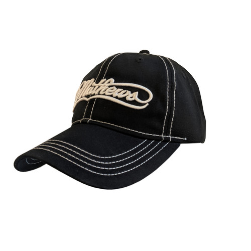 Mathews Black Cap With White Mathews Logo