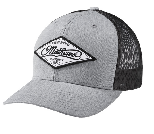 Mathews Diamond Cap Grey & Black