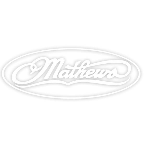 "Mathews 7"" Decal - White"