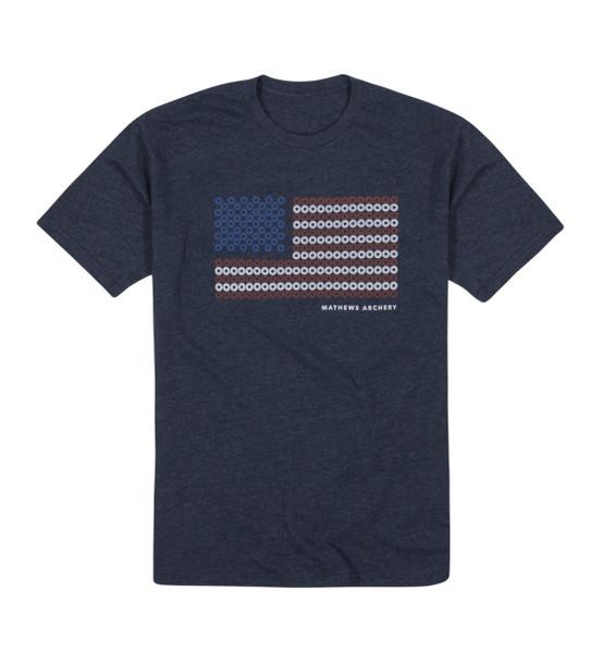 Mathews Archery T-Shirt Damper Flag Tee