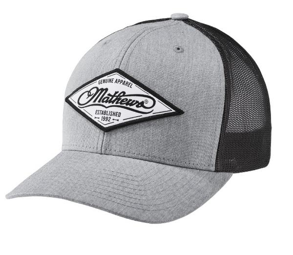 Mathews Diamond Cap Grey & Black