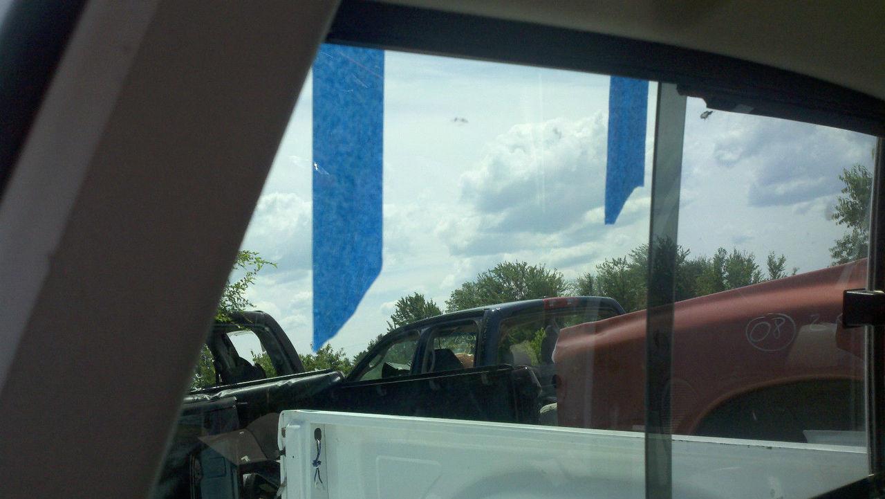 02-08 1500 03-09 2500,3500 Dodge Ram sliding Rear Window Back Glass LEFT Patch