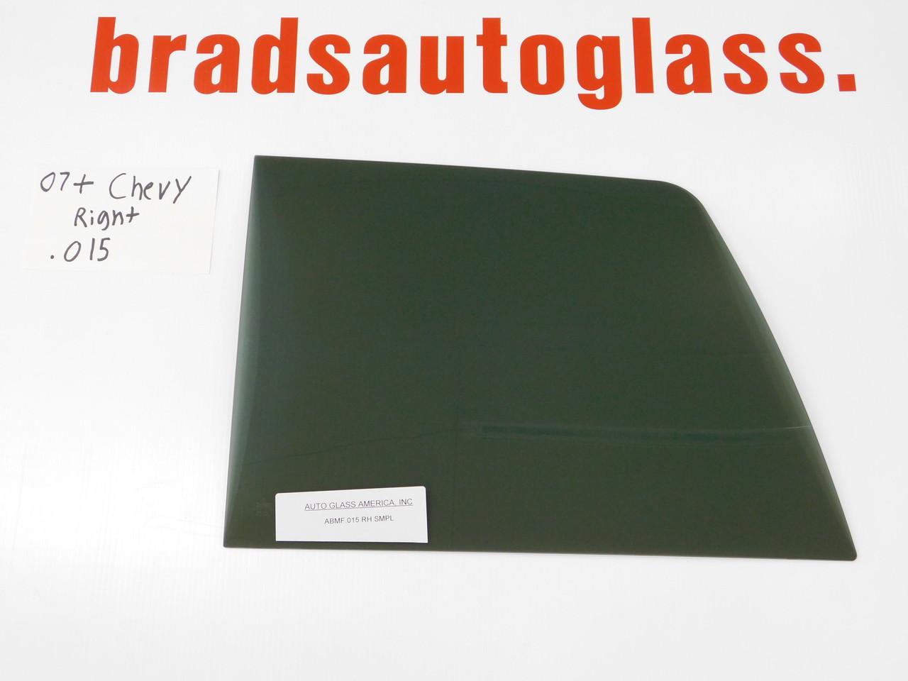 07-13 1500, 07-14 2500, 3500 Chevrolet Silverado GMC sliding rear window back glass RIGHT patch panel