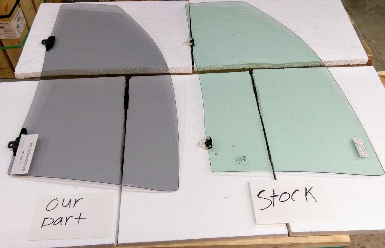 2005-2015 TOYOTA TACOMA RIGHT & LEFT DOOR GLASS TINTED DARK TINT