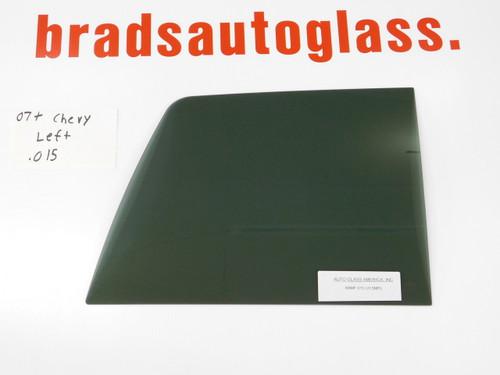 07-13 1500,  07-14 2500, 3500 Chevy Silverado GMC sliding rear window back glass Left side patch panel