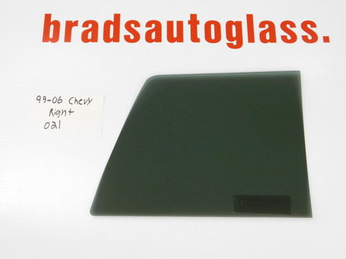 99-06 Chevy Silverado/GMC Sierra sliding Rear Window back Glass RIGHT SIDE