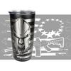 20oz Stainless Tumbler - Molon Labe - Laser Engraved