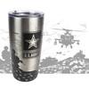 20oz Stainless Tumbler - US Army - 360 Degree Design - Laser Engraved