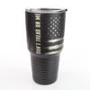 30oz Stainless Tumbler - Don't Tread on Me / Gadsden Flag - 360 Degree Design - Laser Engraved