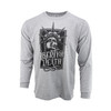 Sublimated Long Sleeve Shirt - Liberty Or Death - Heather Grey
