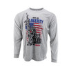 Sublimated Long Sleeve Shirt - Give Me Liberty or Give Me Death! - Heather Grey