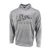 Sublimated Hoodie - Join Or Die - Wicking Fleece - Athletic Grey