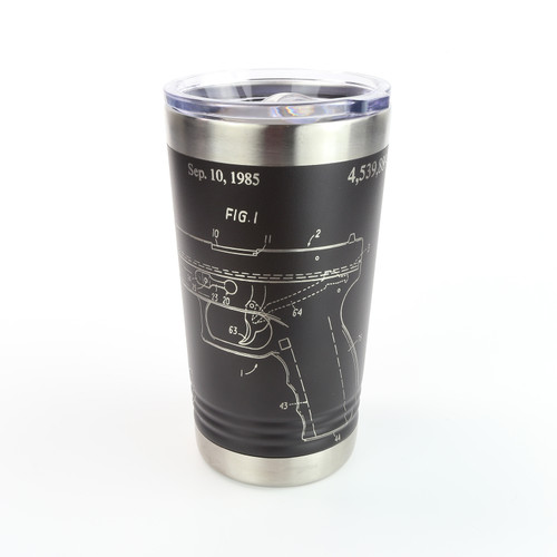16oz. Pint Stainless Tumbler - Glock Patent - Laser Engraved