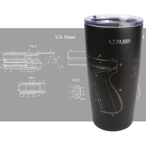 20oz Stainless Tumbler - Glock Patent - Laser Engraved