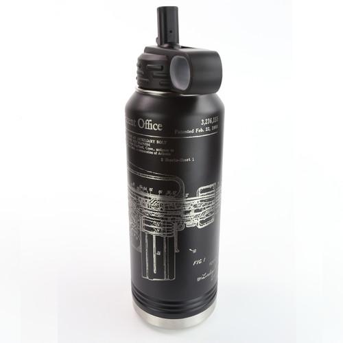 32oz. Stainless Water Bottle - AR-15 / M-16 Patent - 360 Degree Design - Laser Engraved