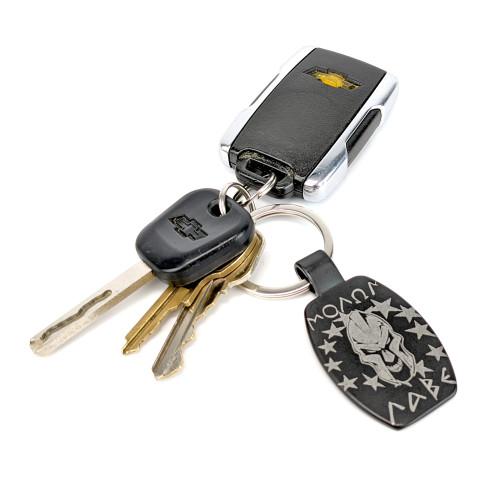 Keychain - Molon Labe - Black