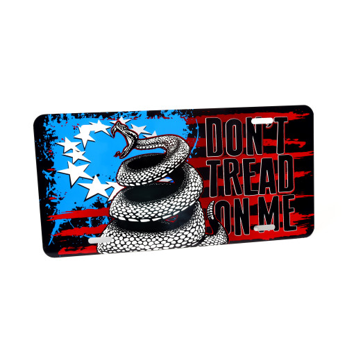 License Plate - Don't Tread On Me - Outdoor Rated Aluminum