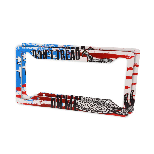 License Plate Frame Set - Don't Tread On Me - Outdoor Rated Aluminum