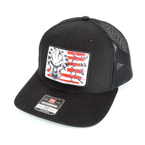 Snapback Hat w/Color Patch - Molon Labe - Black Hat