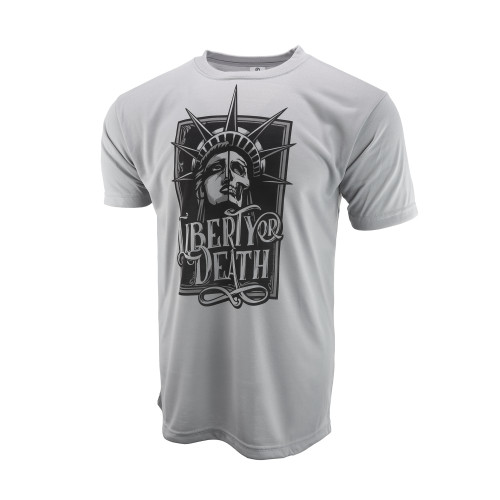 Sublimated Short Sleeve Shirt - Liberty Or Death - Steel Grey