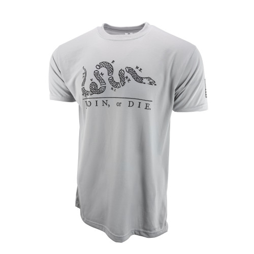 Sublimated Short Sleeve Shirt - Join Or Die - Steel Grey