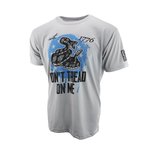 Sublimated Short Sleeve Shirt - Don't Tread On Me - Steel Grey