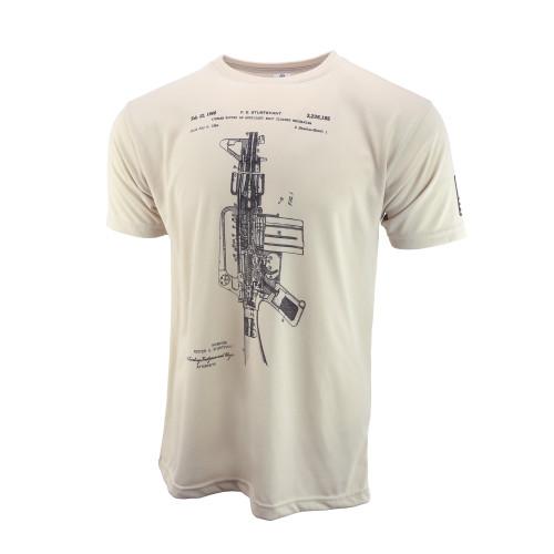 Sublimated Short Sleeve Shirt - AR-15 / M-16 Patent - Sand