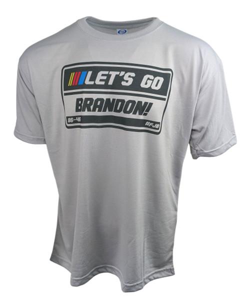 LGB - Let's Go Brandon! - 86-46 - #FJB - Light Grey Sublimated T-Shirt