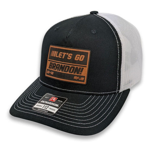 LGB - Let's Go Brandon! - 86-46 - #FJB - Black/White Trucker Hat