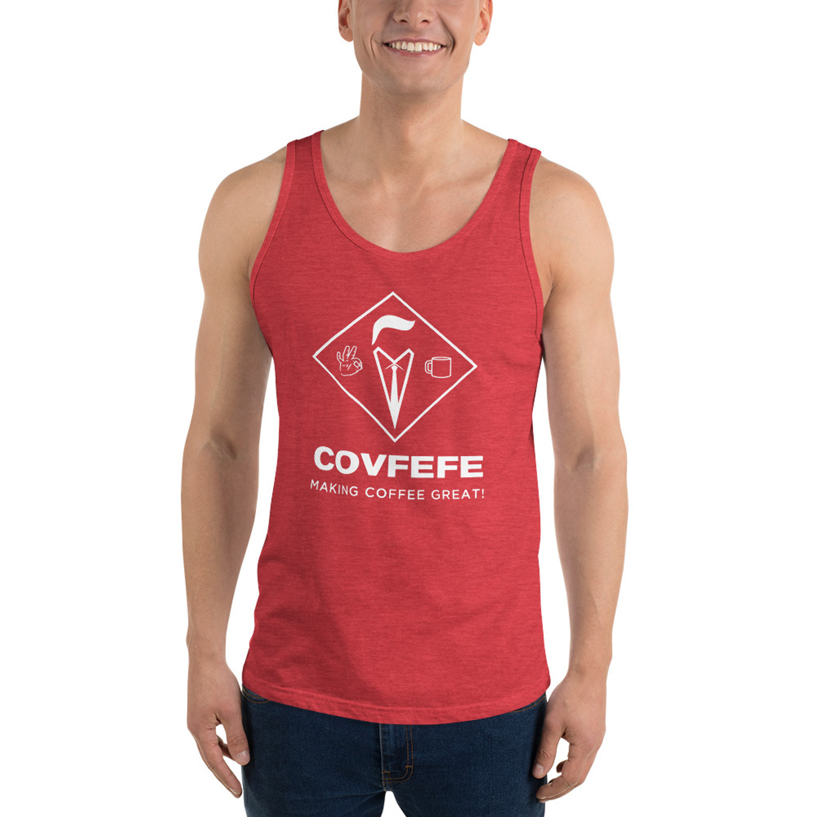 Men's Tank Top [White Logo]
