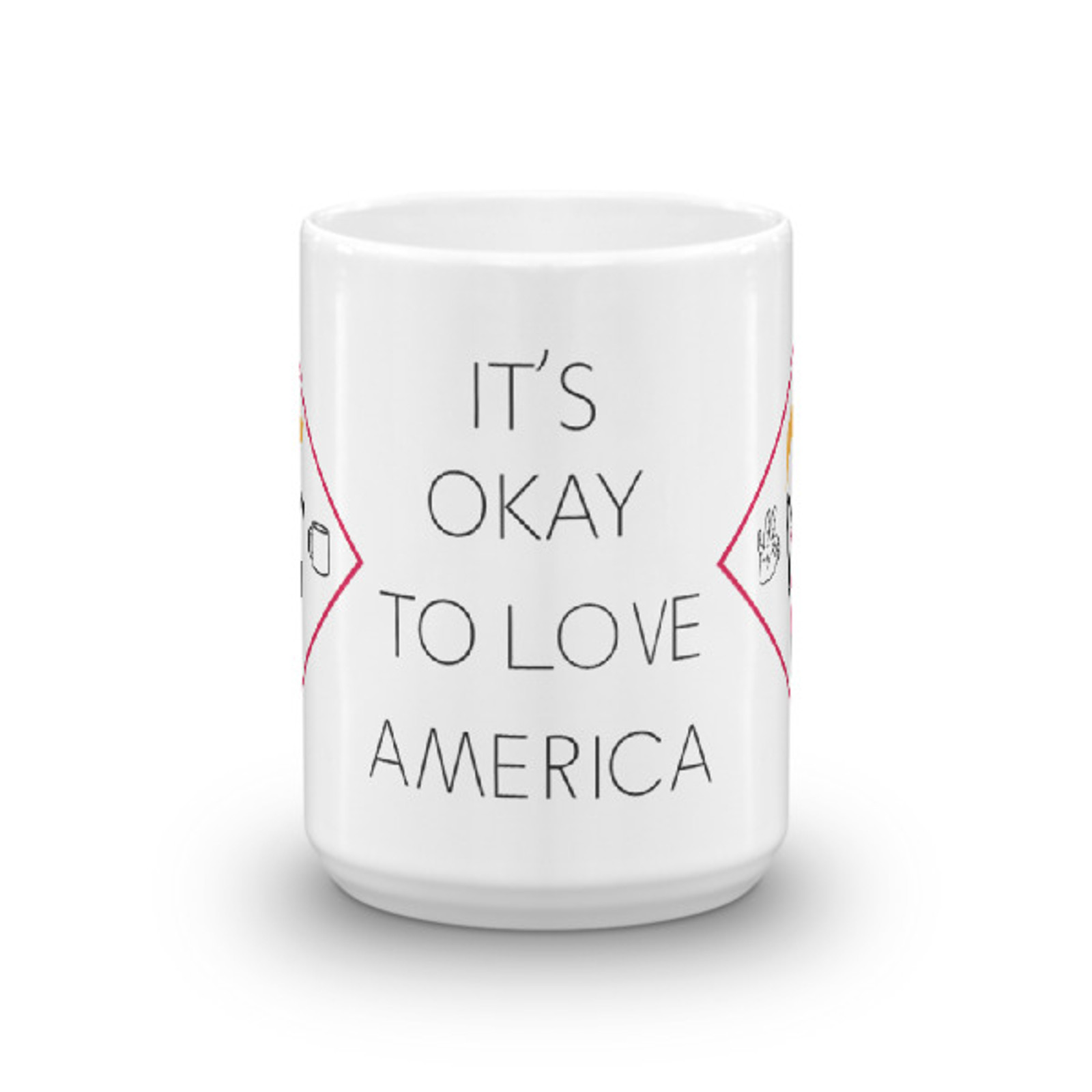 It's Okay To Love America Mug