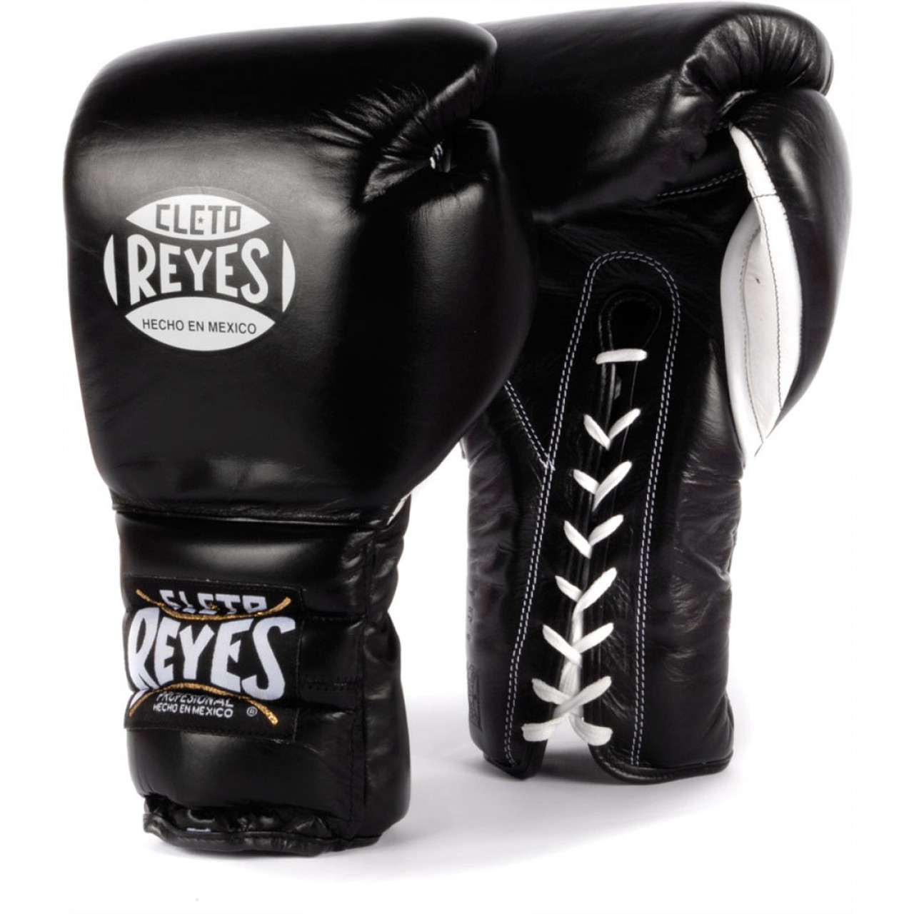 Cleto Reyes Traditional Lace Up Training Boxing Gloves Black