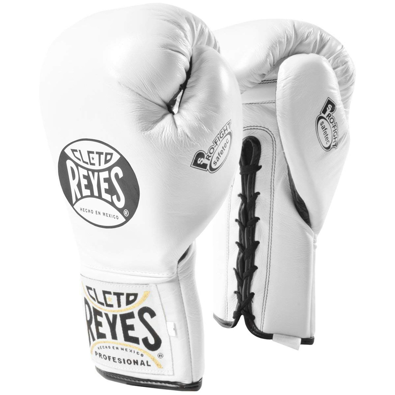 Cleto Reyes Official Lace Up Competition Boxing Gloves Black
