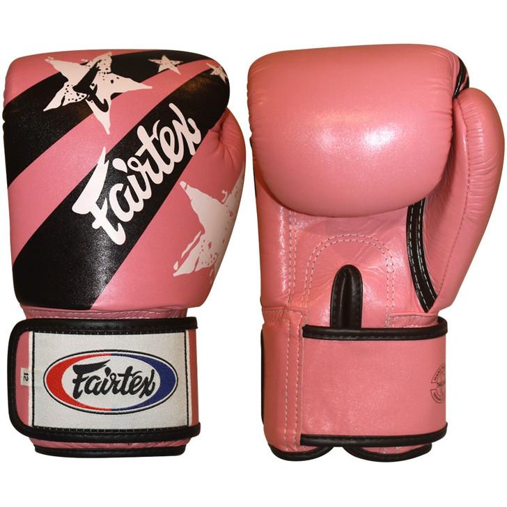 Fairtex Muay Thai-Style Sparring Gloves Pink / Black Stars