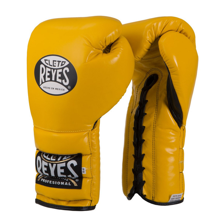 Cleto Reyes Lace Up Training Gloves Yellow Color