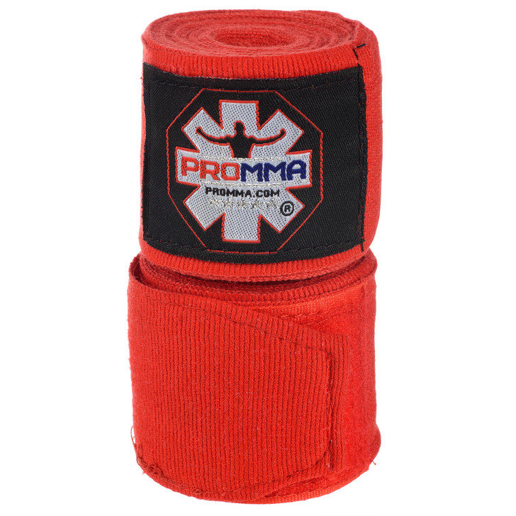 PRO MMA SEMI-STRETCH Red Hand Wraps MADE IN USA