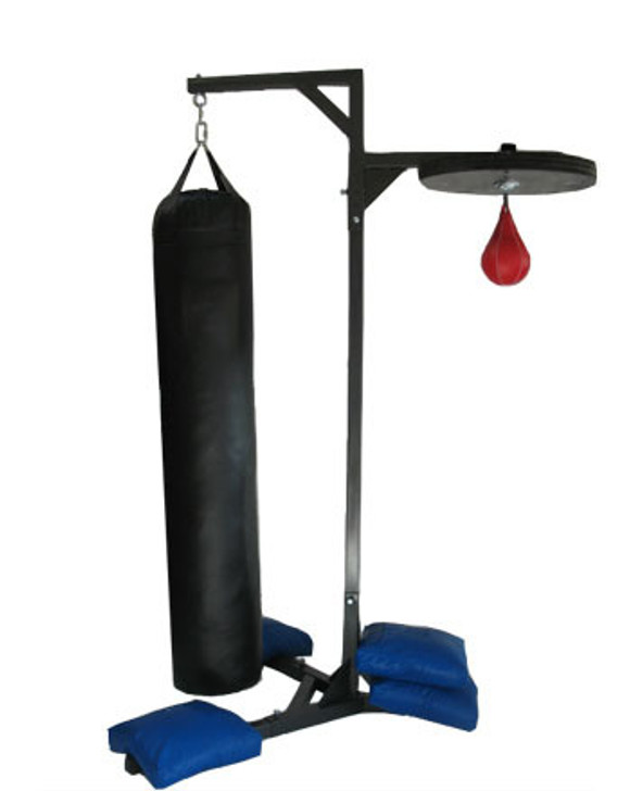 PROLAST® Professional Double Station Heavy Bag with 4 Unfilled Sand Bags Stand Made in USA