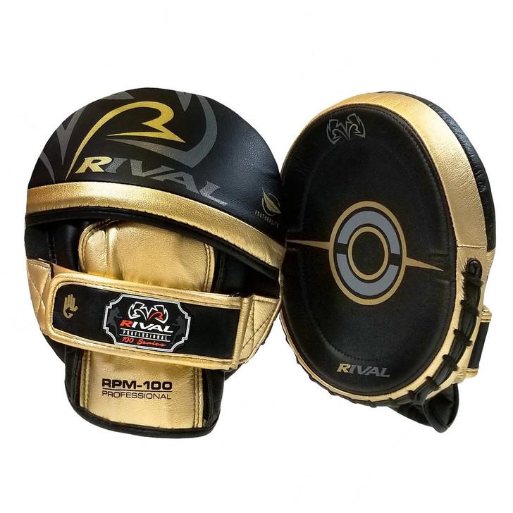 RIVAL 100 SERIES PRO PUNCH MITT BLACK/GOLD