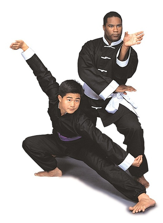 Kung-Fu Uniform, Black with White Buttons