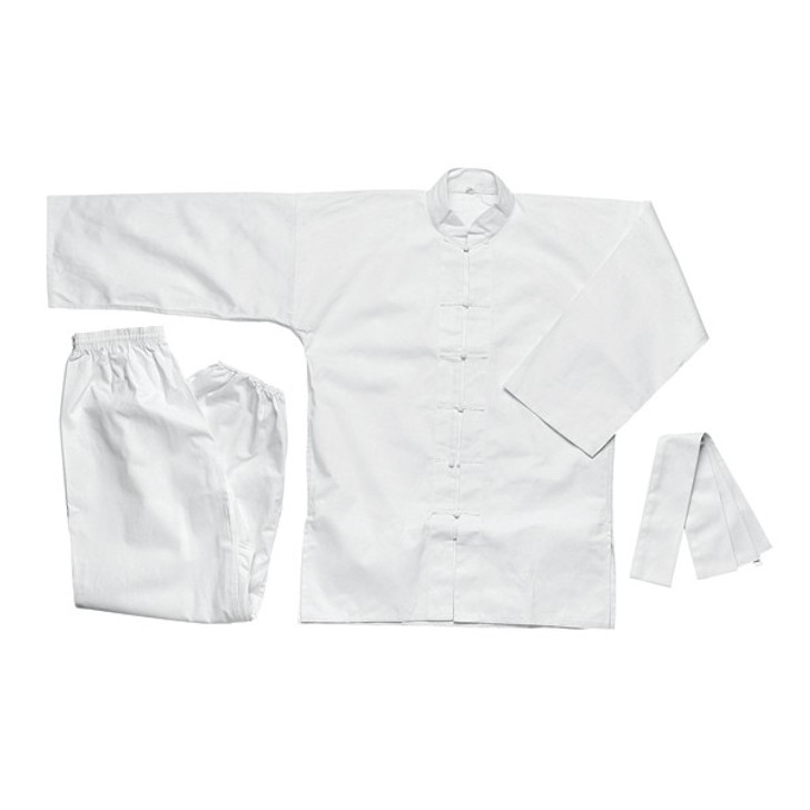 Kung-Fu Uniform, White with White Buttons
