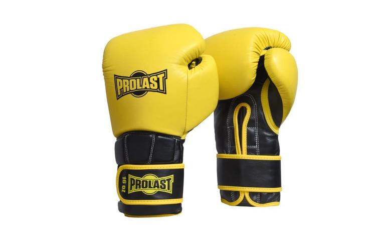 PROLAST® Boxing Luxury Professional Velcro Training Gloves - Yellow/ Black
