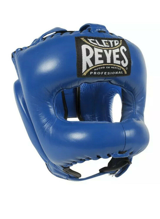 Cleto Reyes Traditional Headgear with Pointed Nylon Face Bar Blue