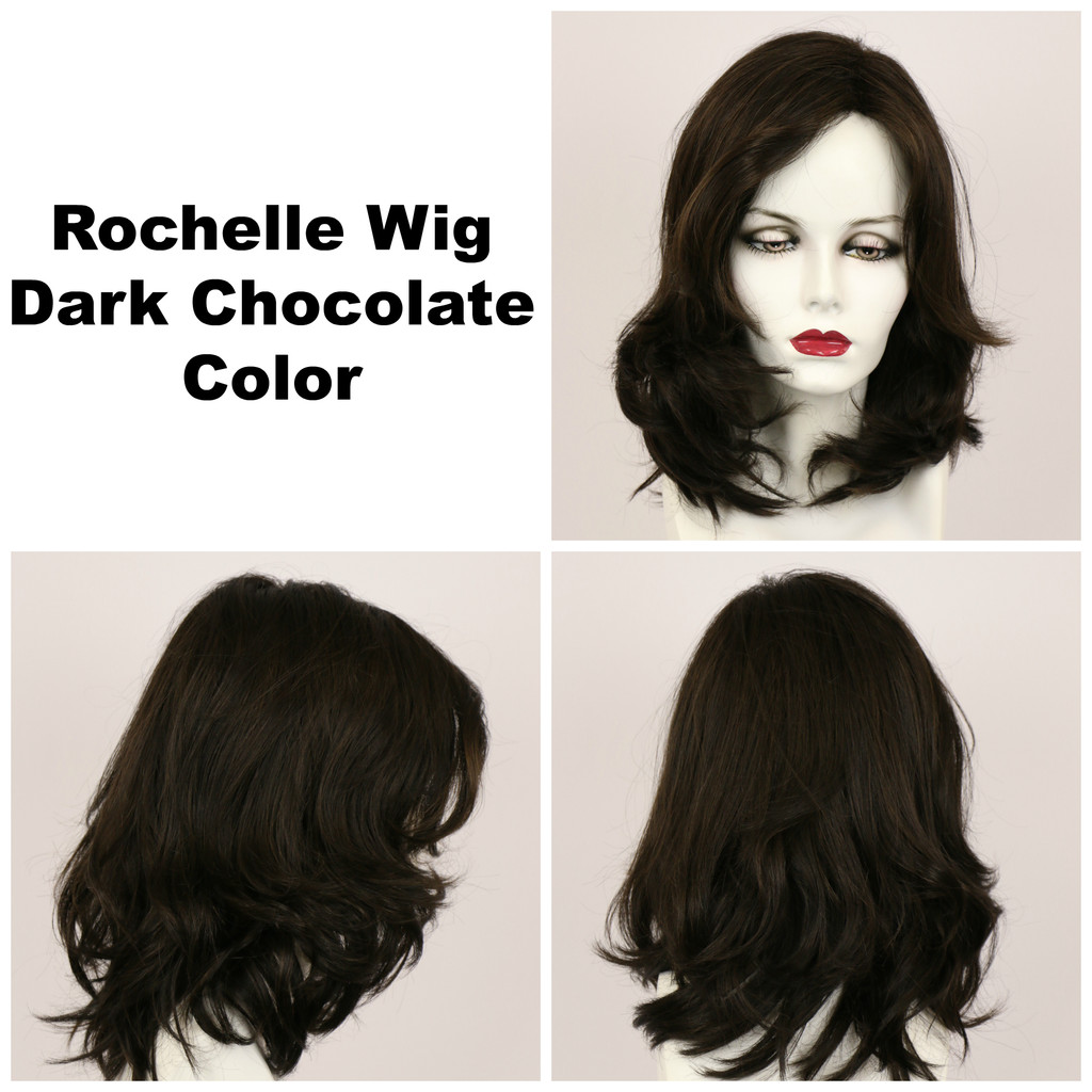 Dark Chocolate / Large Rochelle / Long Wig